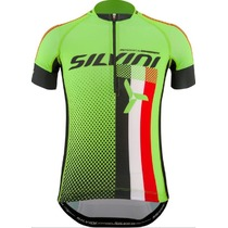 Children cycling jersey Silvini TEAM kids CD842K green, Silvini