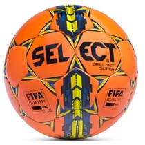 Football ball Select FB Brilliant Super orange yellow, Select