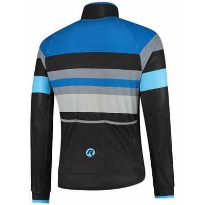 Ultralight cycling jacket Rogelli PEAK, black-blue-gray 003.035, Rogelli