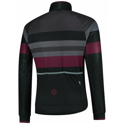 Ultralight cycling jacket Rogelli PEAK, black-gray-burgundy 003.036, Rogelli