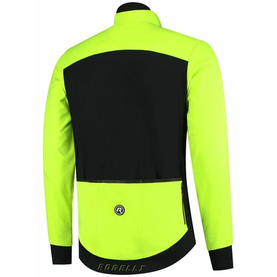 Light a extra breathable sofshellová jacket Rogelli CONTENT 2.0 with modern details, black-reflective yellow 003.143, Rogelli