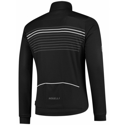 Softshell cycling jacket Rogelli KALON with breathable sleeves a back work, black and white 003.150, Rogelli