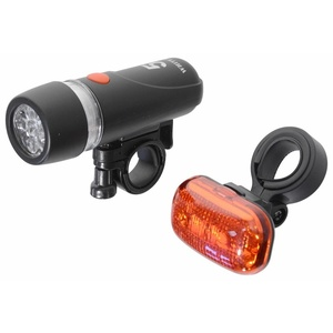 Cycling light Compass Front & Back 1+1 (5+3LED), Compass