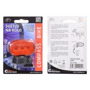Cycling light Compass Back 3LED red 3 function, Compass