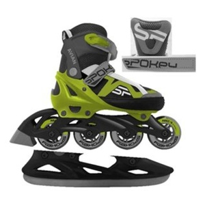 Skates Spokey AVIANA winter I summer adjustable grey-green, Spokey