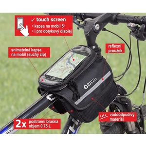 Cycling over frame reversible + PHONE Compass, Compass