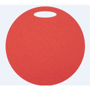 Seat Yate round 1 layer diameter 350 mm red, Yate