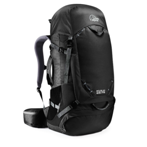 Backpack LOWE ALPINE Kulu 65:75 Anthracite Extended back, Lowe alpine