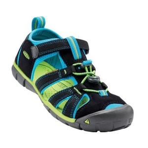Sandals Keen SEACAMP II CNX JR, black / blue danube, Keen