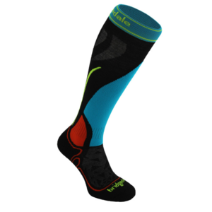Knee socks BRIDGEDALE Vertige Racer Junior black / multi 006, bridgedale