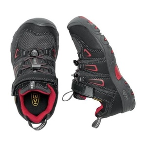 Children boots Keen OAKRIDGE LOW WP K, black / tango, Keen