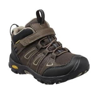 Children boots Keen OAKRIDGE MID WP K, waterfalls brown / brindle, Keen