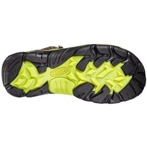 Men boots Keen Wanderer MID WP W raven / bright chartreuse, Keen