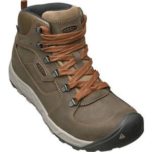 Men boots Keen Westward MID Leather WP M, dark olive / rust, Keen