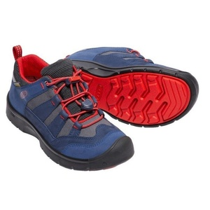 Children boots Keen Hikeport WP Jr, dress blues / firey red, Keen