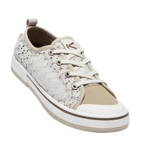 Women boots Keen Elsa II Sneaker Crochet W, silver birch / canteen, Keen
