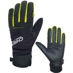 Winter gloves Chiba Rain Touch, black-reflective yellow 3120018.1003, Rogelli