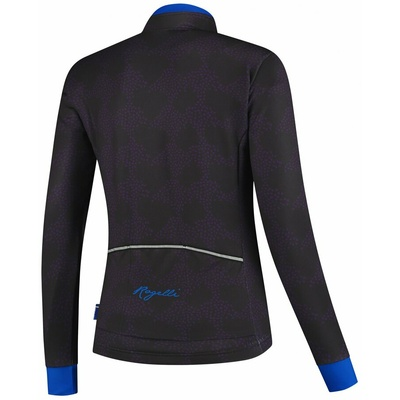 Ultralight women's cycling jacket Rogelli BLOSSOM with fine insulation, purple-blue 010.326, Rogelli