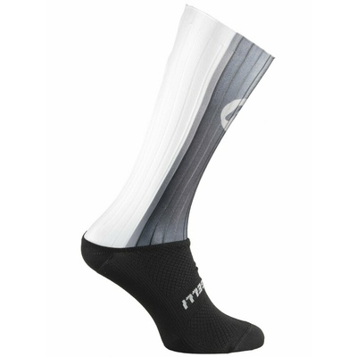 Aerodynamic functional socks Rogelli AERO, black-gray-white 007.003, Rogelli