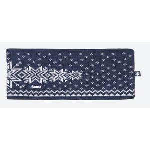 Knitted Merino headband Kama C41 108 dark blue, Kama