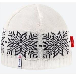 Knitted Merino cap Kama AW64 101 naturally white, Kama