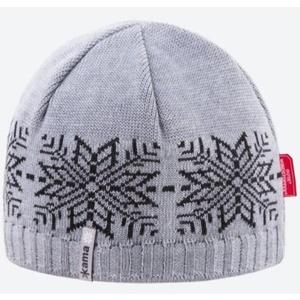 Knitted Merino cap Kama AW64 109 light grey, Kama