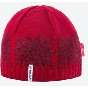 Knitted Merino cap Kama AW64 104 red, Kama