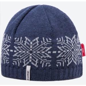 Knitted Merino cap Kama AW64 108 dark blue, Kama