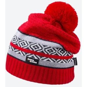 Knitted Merino cap Kama KW06 104 red, Kama