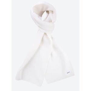 Knitted Merino scarf Kama S22 100 white, Kama
