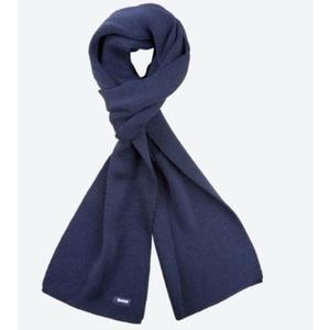 Knitted Merino scarf Kama S22 108 dark blue, Kama