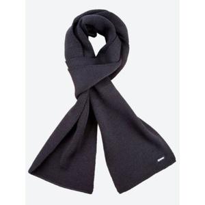 Knitted Merino scarf Kama S22 110 black, Kama