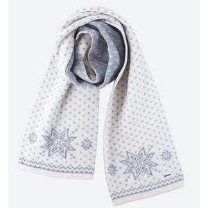 Knitted Merino scarf Kama S23 101 naturally white, Kama