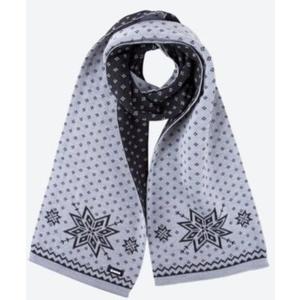 Knitted Merino scarf Kama S23 109 light grey, Kama