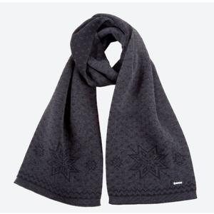 Knitted Merino scarf Kama S23 111 dark grey, Kama