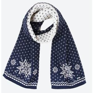 Knitted Merino scarf Kama S23 108 dark blue, Kama