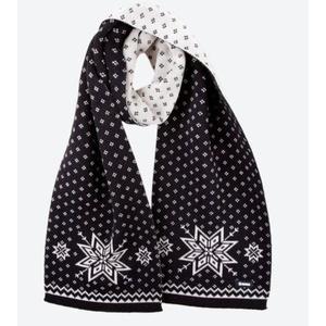 Knitted Merino scarf Kama S23 110 black, Kama