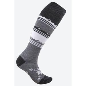 Knitted Merino knee socks Kama F03 111 dark grey, Kama
