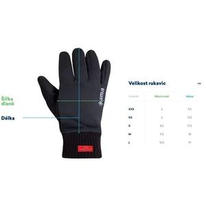 Knitted Merino gloves Kama R104 111 dark grey, Kama