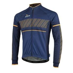 Bike jersey Rogelli RITMO with long sleeve, 001.257. blue-orange, Rogelli