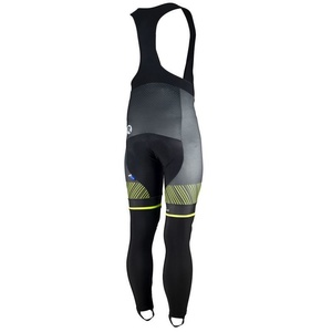Exclusive cycling pants Rogelli Ritmo 002.260. black-reflective yellow, Rogelli