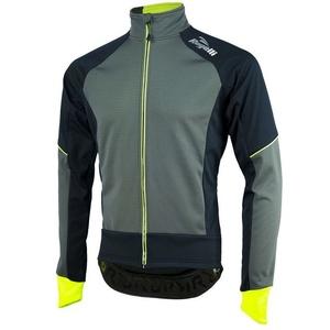 Men softshell jacket Rogelli TRANI 4.0, 003.121. black-reflective yellow, Rogelli