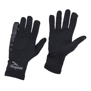 Men running winter gloves Rogelli Touch, 890.001. black, Rogelli