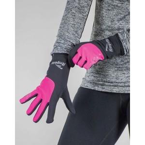 Women running winter gloves Rogelli Touch, 890.004. black-reflective pink, Rogelli