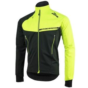 Men softshell jacket Rogelli Contento, 003.140 black-reflective yellow, Rogelli