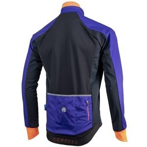 Men softshell jacket Rogelli Contento, 003.141 blue-black-orange, Rogelli