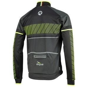 Men softshell jacket Rogelli Ritmo, 003.255. black-reflective yellow, Rogelli