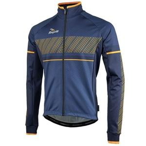 Men softshell jacket Rogelli Ritmo, 003.257. blue and orange, Rogelli