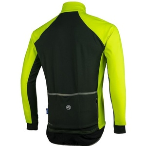 Men cycling jersey Rogelli All Seasons, 004.024. reflection yellow-black, Rogelli