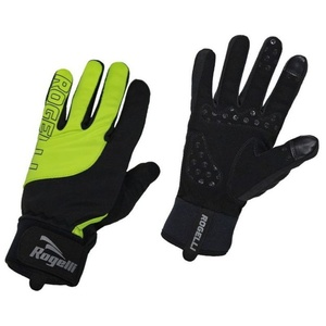 Men cycling gloves Rogelli Storm, 006.125. black-reflective yellow, Rogelli